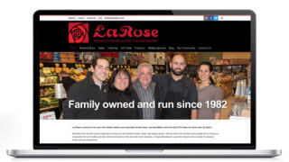 Website Design Milton, LaRose Bakery