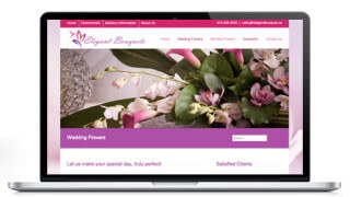 Website Design for ElegantBouquest